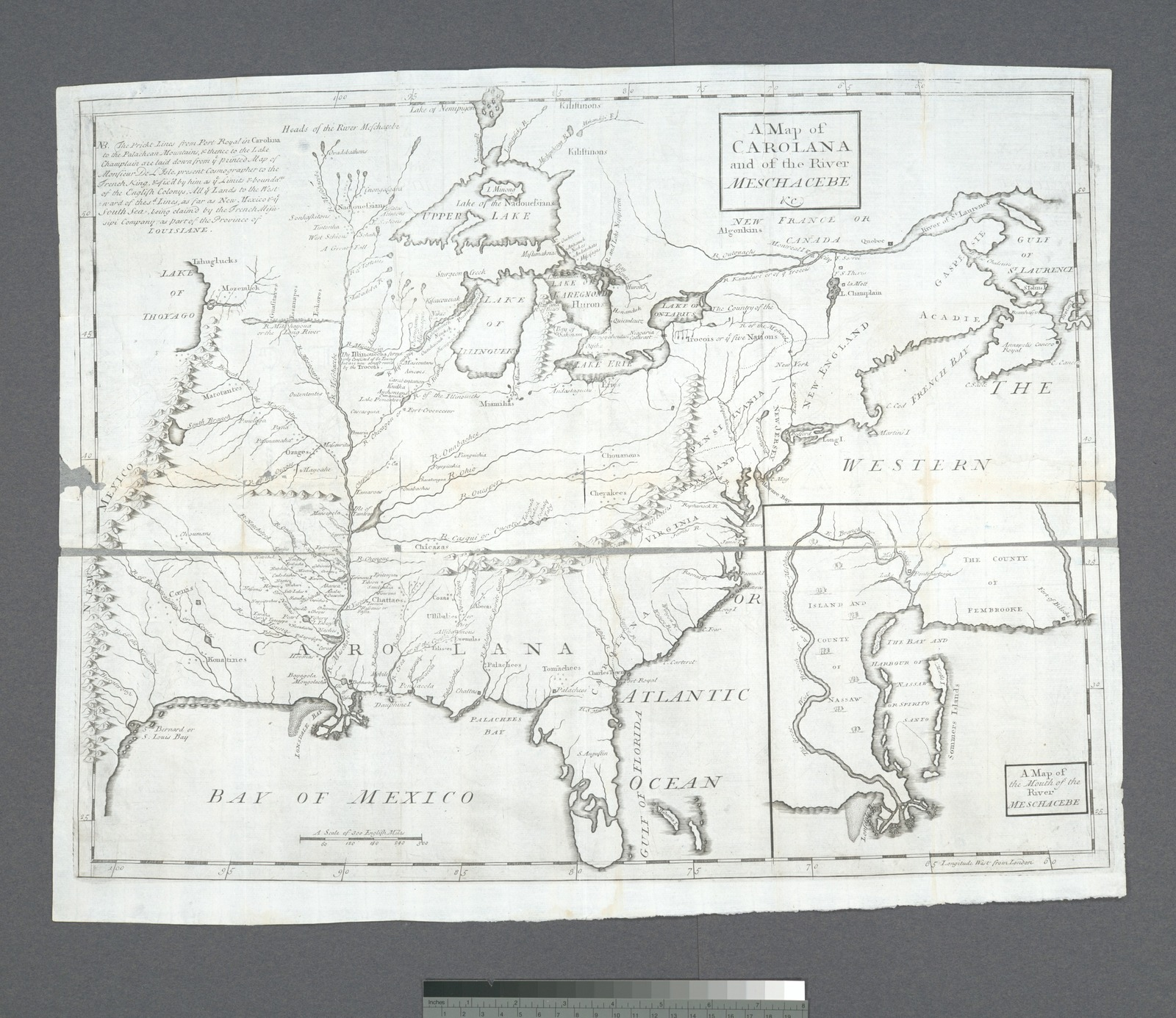 A Map of Carolana and of the River Meschacebe &c.