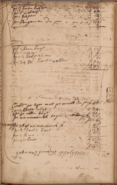 Account book, 1711-1729 (mostly in Dutch)