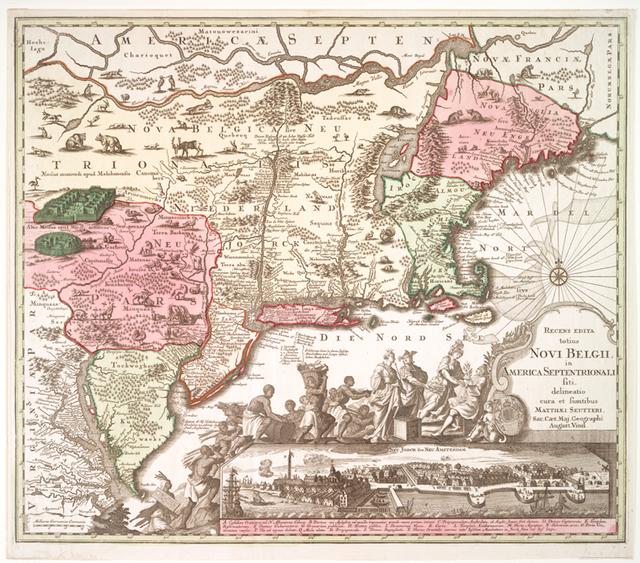 Recens edita totius Novi Belgii, in America septentrionali.