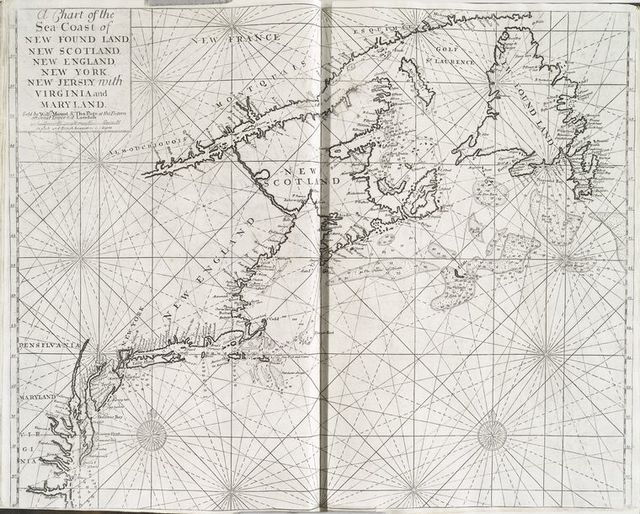 A chart of the sea coast of New Found Land, New Scotland, New England, New York ....