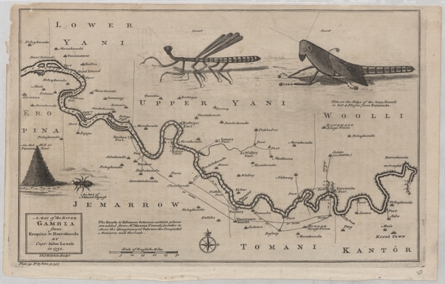 A map of the river Gambia from Eropina to Barrakunda