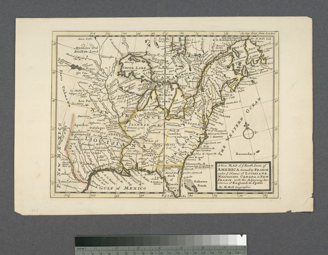 A new map of ye north parts of America claimed by France : under ye names of Louisiana, Mississipi, Canada & New France with the adjoyning territories of England & Spain
