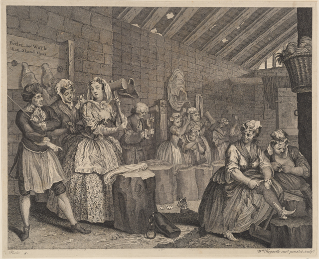 AHarlot's Progress, Plate 3 [Apprehended by a Magistrate]