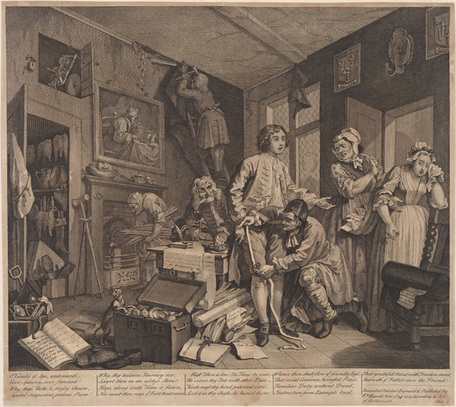 AHarlot's Progress, Plate 6 [Her funeral]