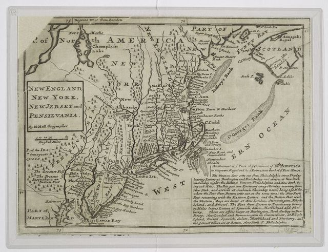 New England, New York, New Jersey and Pensilvania