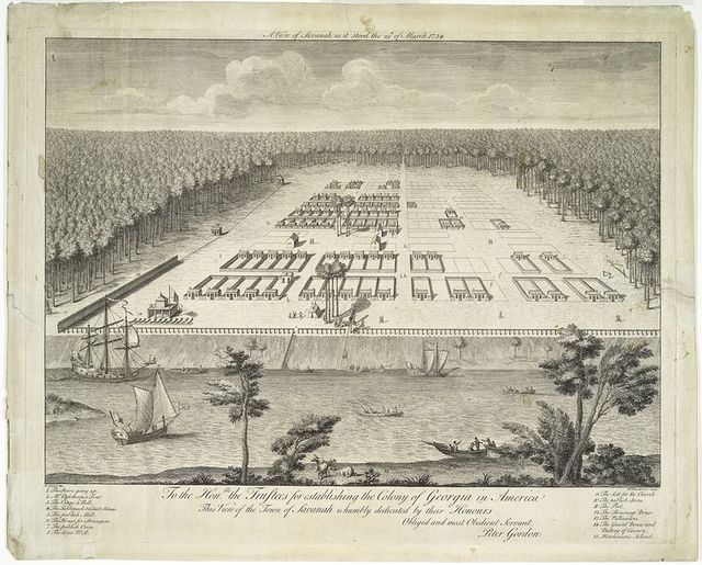 A view of Savanah as it stood the 29th of March, 1734.