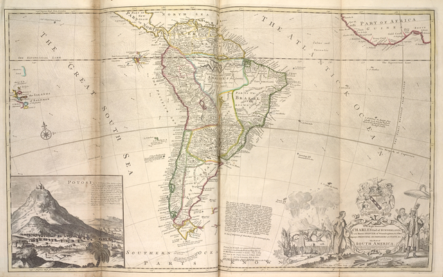 Map of South America ...