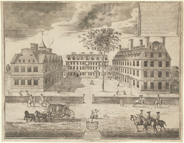 [A prospect of the colleges in Cambridge in New England.]