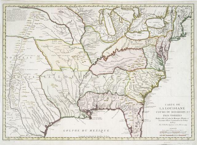 Carte de la Louisiane cours du Mississipi [i.e. Mississippi] et pais voisins