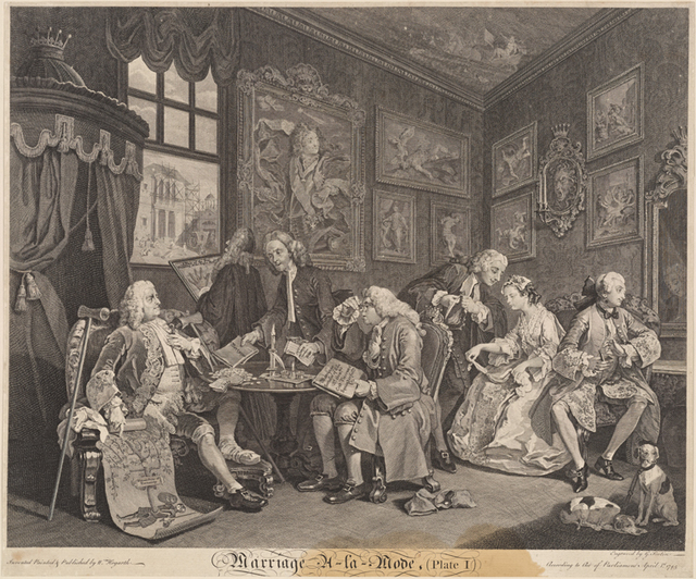 Marriage A-La-Mode (Plate I) [The Contract]
