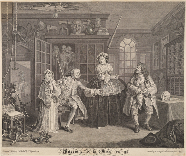 Marriage A-La-Mode (Plate III) [The Scene with the Quack]