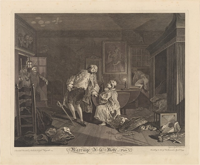 Marriage A-La-Mode (Plate V) [The Death of the Earl]