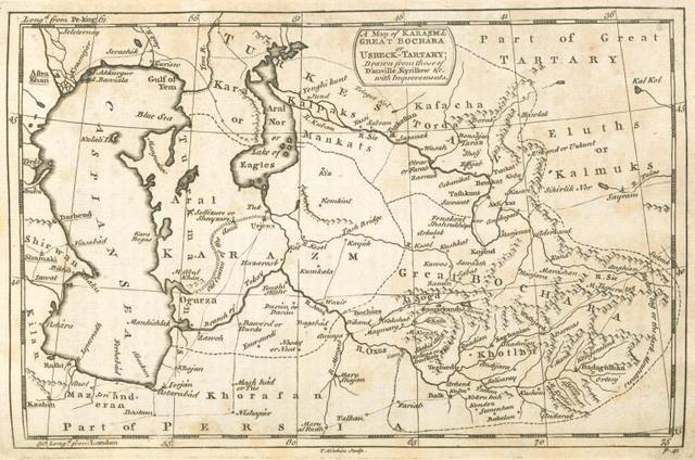 A Map of Karasm & Great Bochara or Uzbeck Tartary.