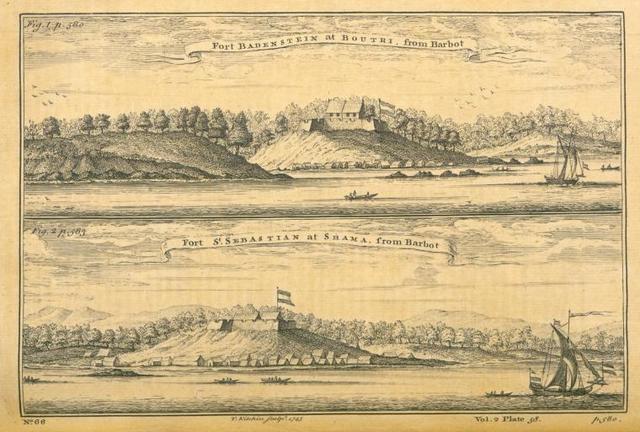 Fort Badenstein at Boutri; Fort St. Sebastian at Shama.