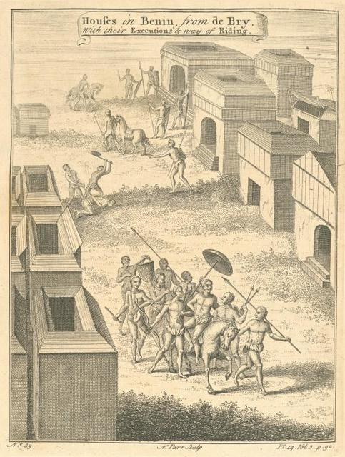 Houses at Benin, with their executions and way of riding.