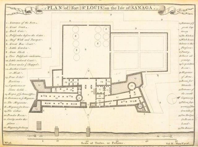 Plan of fort St. Louis on the Isle of Sanaga.