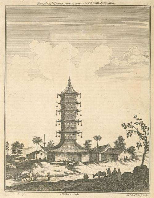 Temple of Quang-qua-myau covered with porcelain.