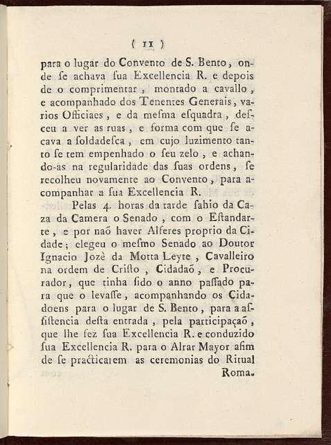 Relaçaõ da entrada que fez o excellentissimo : e reverendissimo senhor D. Fr. Antonio do Desterro Malheyro bispo do Rio de Janeiro, em o primeiro dia deste prezente anno de 1747 ...