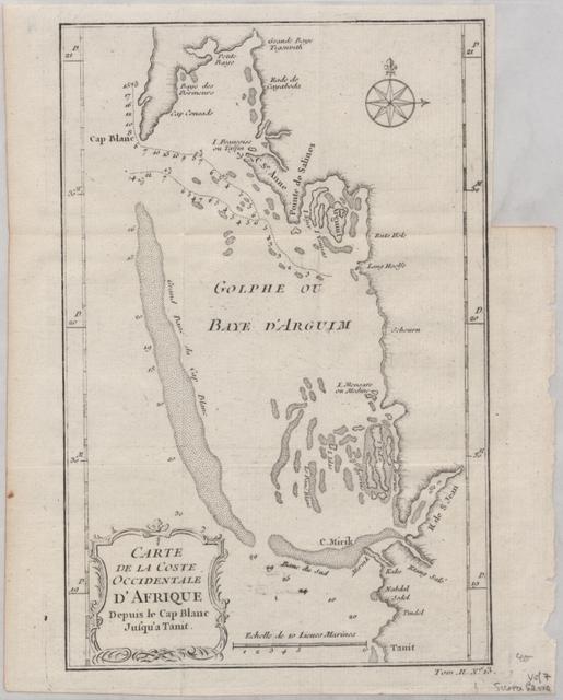 Carte de la coste occidentale d'Afrique depuis le Cap Blanc jusqu'a Tanit