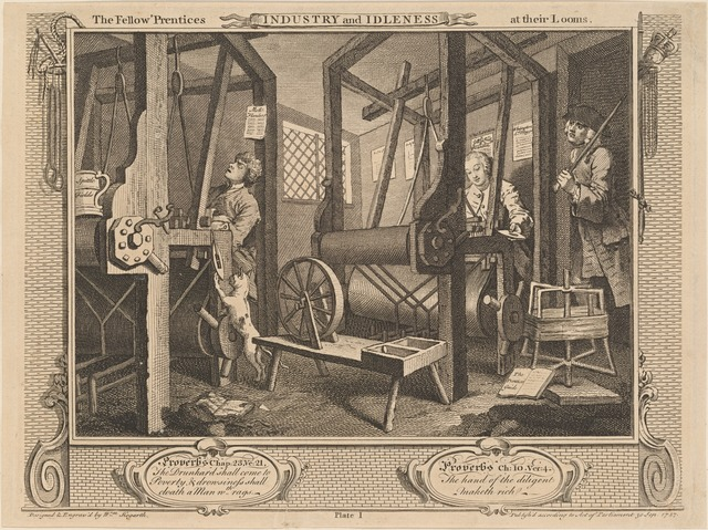 The Fellow 'Prentices at their Looms [plate 1]
