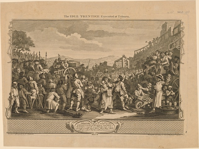 The Idle 'Prentice Executed at Tyburn [plate 11]