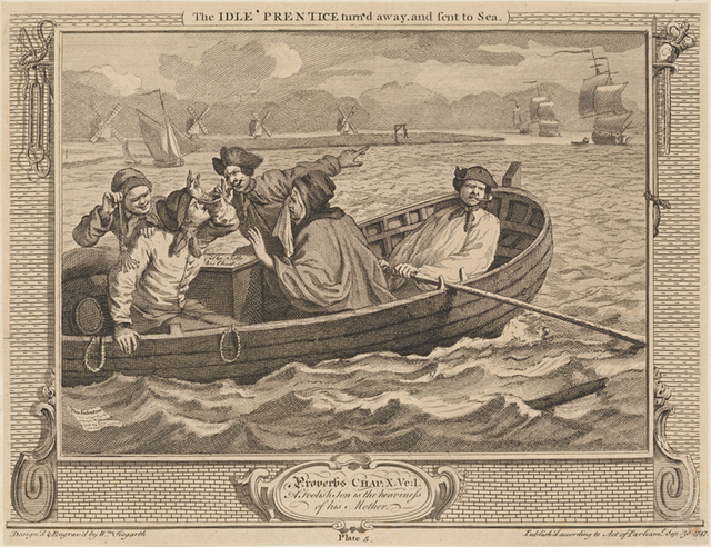 The Idle 'Prentice turned away and sent to Sea [plate 5]