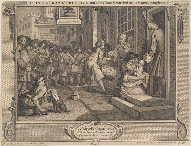 The Industrious 'Prentice out of his Time and Married to his Master's Daughter [plate 6]