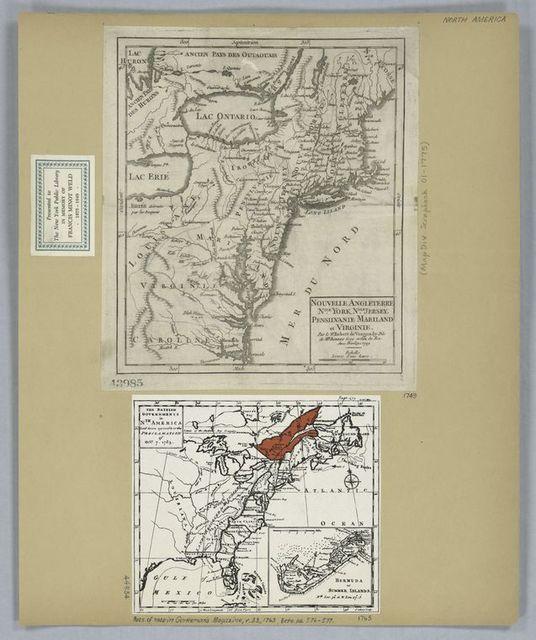 Nouvelle Angleterre, Nlle. York, Nlle. Jersey, Pensilvanie, Mariland et Virginie