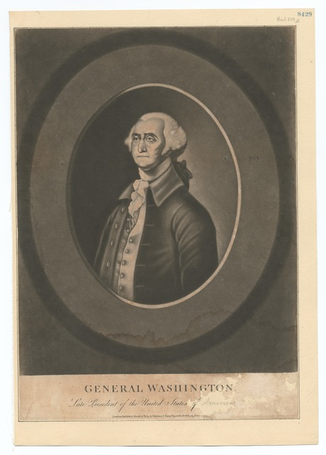 General Washington Late President of the United States of [America]