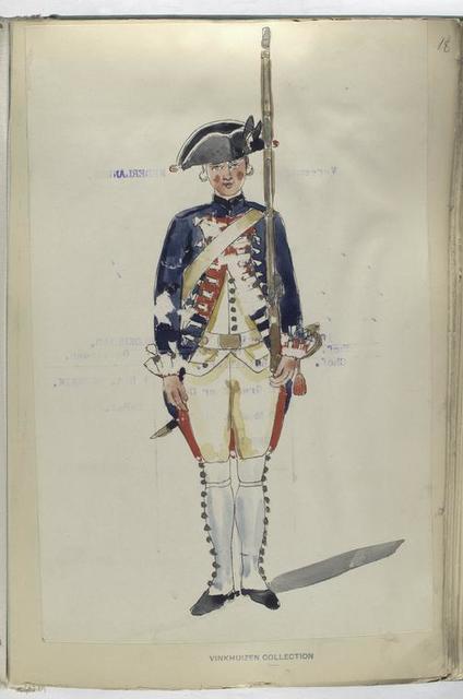 Infanterie Regiment Oranje Gelderland. 1753