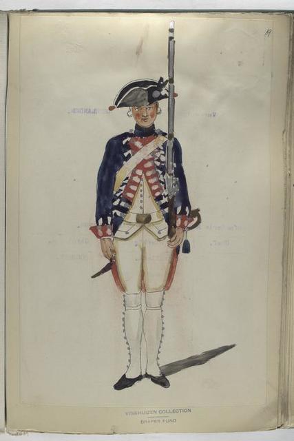 Infanterie Regiment Oranje Stad en Lande. 1753