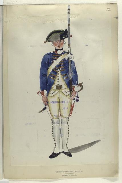Infanterie Regiment Schwanenburg. R. no. 10.  1753