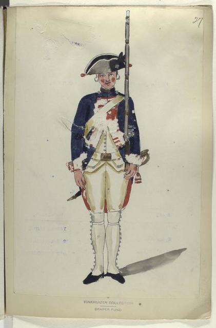 Infanterie Regiment Villattes. R. no. 5.  1753