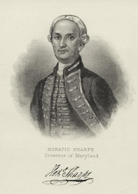 Horatio Sharpe, governor of Maryland.