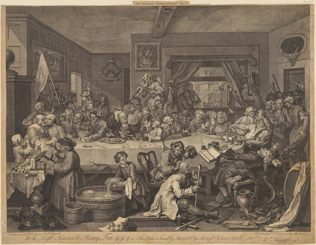 AnElection Entertainment. Plate I.