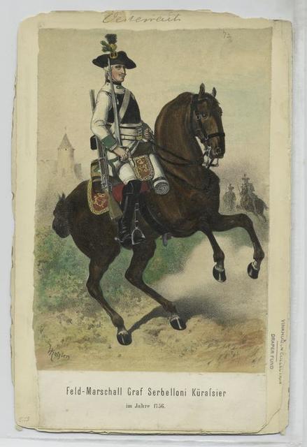 Feld-Marschall Graf Serbelloni Kürassier, im Jahre 1756
