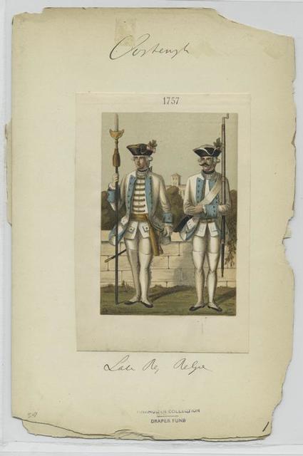 Infantry regiment Baden-Durlach, 1756