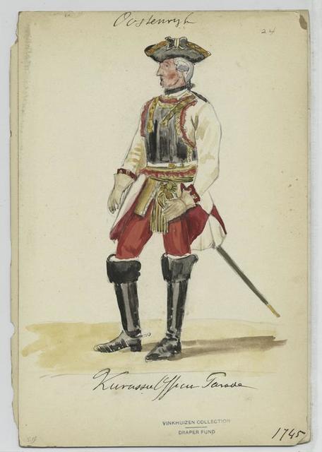 Kurassier Officier parade, 1745