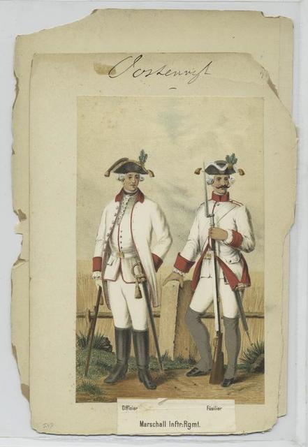 Marschall Inftr. Rgmt. : Offizier, Füsilier