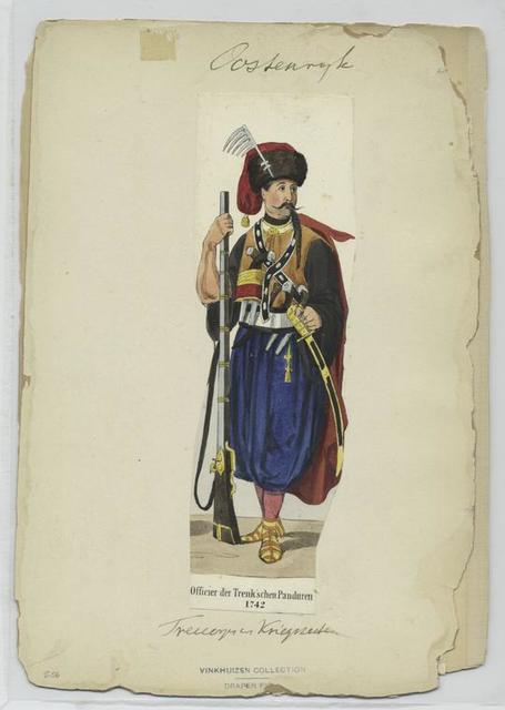 Officier der Trenk'schen Panduren, 1742
