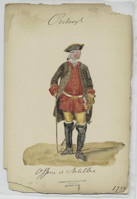 Officier v. Artillerie, 1750