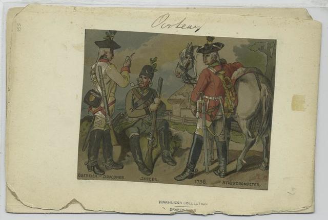 Östreich: Dragoner, Jaeger, Stabstrompeter, 1756