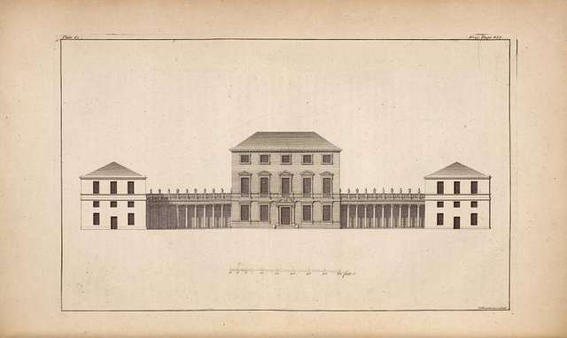 Elevation of Chesterfield house, May Fair.