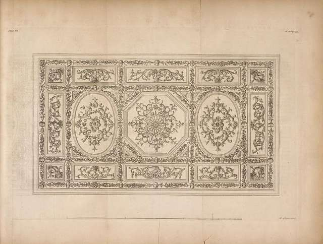 Great drawing room cieling, Chesterfield house.] [sic]