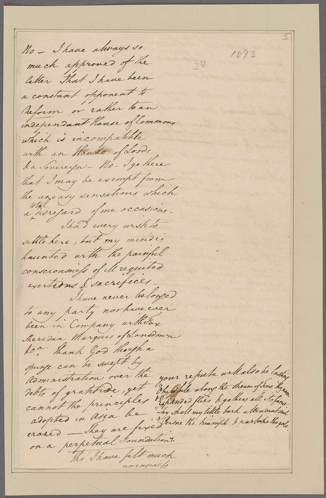 Law, Thomas. To Lord Cornwallis