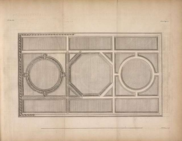 Library cieling, Chesterfield house.] [sic]