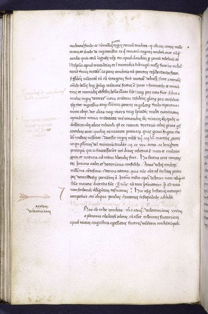 End of text of Eutropius, beginning of Paul the Deacon's continuation.