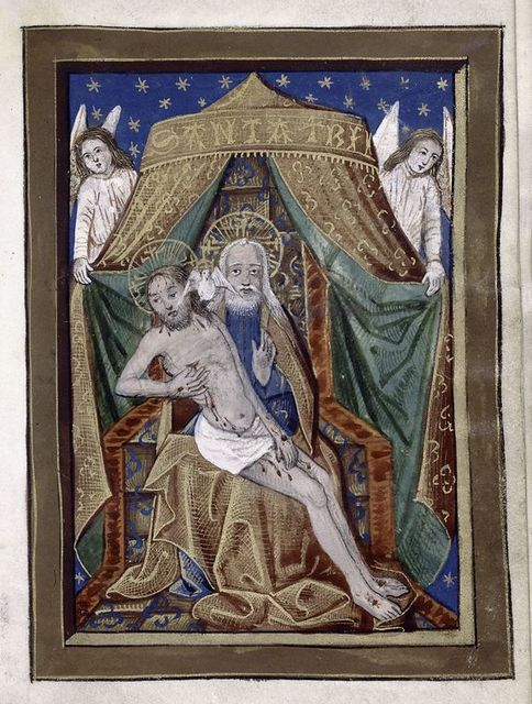 Full-page miniature of Trinity.
