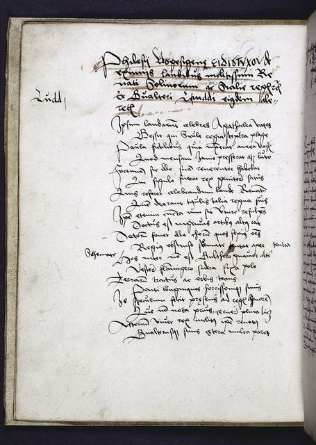 Page of text with title underlined in red, including author's name.