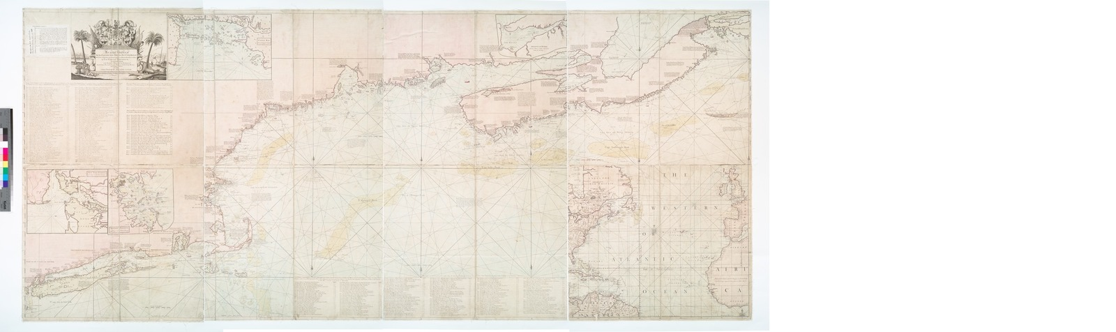 An actual survey of the sea coast from New York to the I. Cape Briton : with tables of the direct and thwart courses & distances from place to place